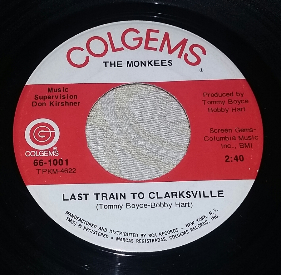 Last Train for Colgems 45's – Later Day Original Labels