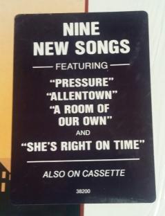 Hype sticker for original US vinyl