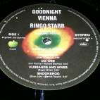 "Side 1 label of ""Goodnight Vienna"""