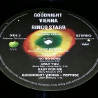 "Side 2 label of ""Goodnight Vienna"""