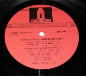 Side 1 label of French Lp