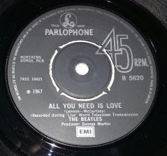 Side 1 label of 1976 UK 45