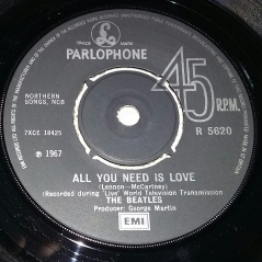 Side 1 label of 1976 UK 45