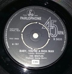 Side 2 label of 1976 UK 45
