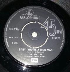 Side 2 label of 1976 UK 45
