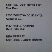 Credits from booklet