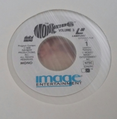 Label for Columbia Vol. 3 Laserdisc