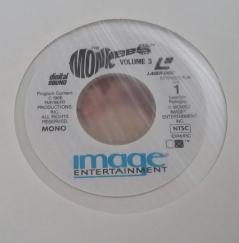 Label for Columbia Vol. 3 Laserdisc