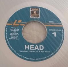 HEAD Columbia Laserdisc label