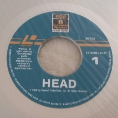 HEAD Columbia Laserdisc label