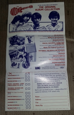 Rhino orider sheet inside VHS box