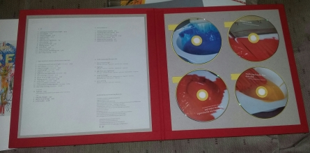 Inside red booklet with 4 discs